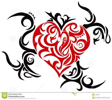coeur tribal illustration de vecteur illustration du