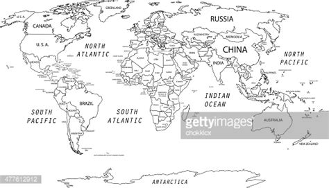 detailed world map vector getty images