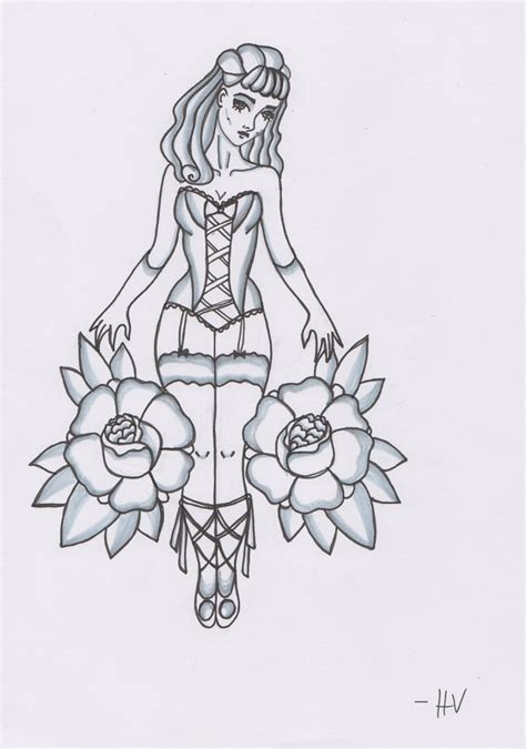 pin up girl tattoo designs pin up design by d ragonstone on deviantart