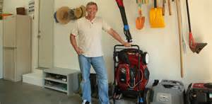 Garage Organization Lawn Mower Garage Space Saving Storage Solutions Today S Homeowner
