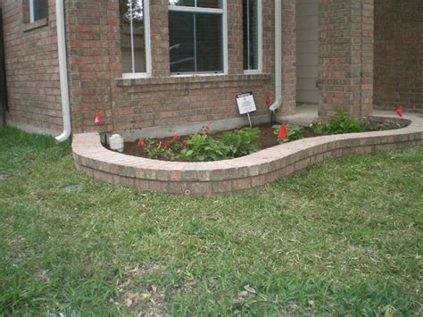 brick flower bed brick flower bed outdoor ideas pinterest