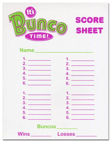 free bunco scorecard template bunco score sheet template invitation