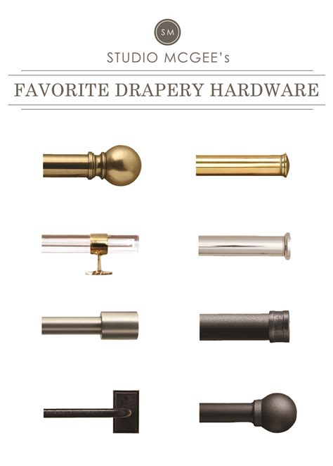 drapes hardware a roundup of our favorite drapery hardware studio mcgee