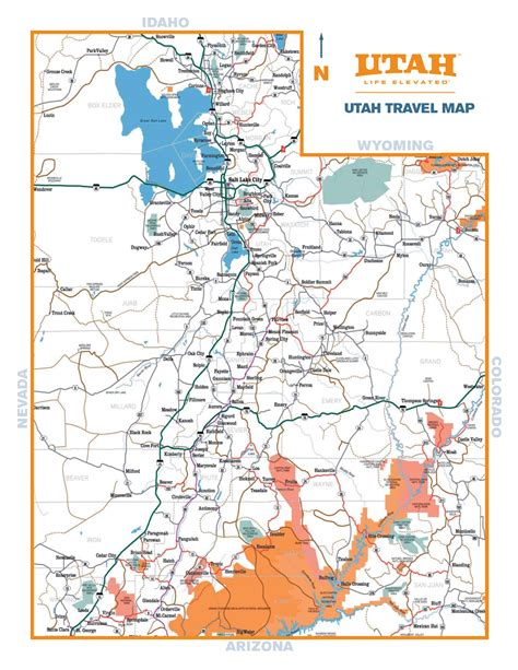 utah state map map of cities in utah pictures to pin on pinsdaddy
