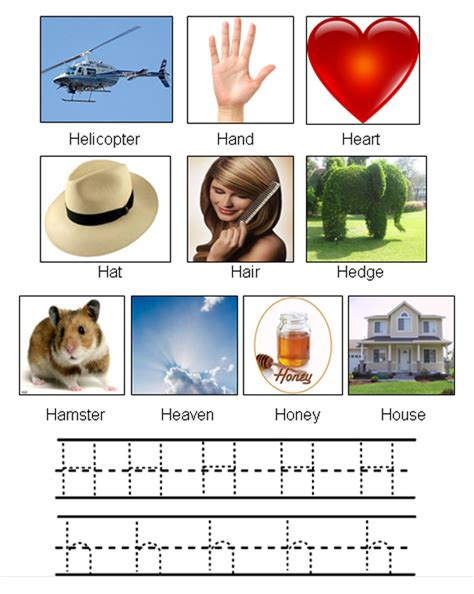 That Start With The Letter H by Picture Of Objects Starting With Letter H