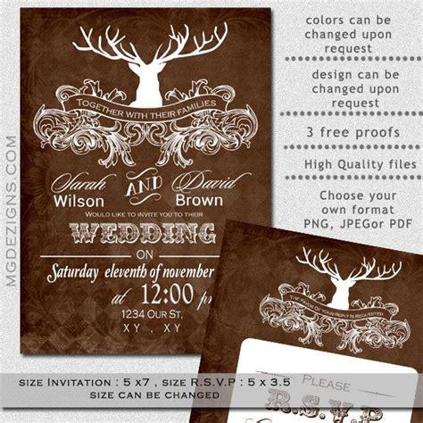 deer wedding invitations printable wedding invitation template antler wedding