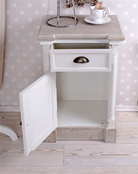 white shabby chic bedside table bedside tables shabby chic bedside table bedside table