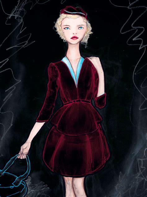 sketchbook velvet the velvet dress igor andr 233