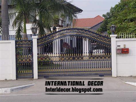modern gate design for house modern sliding iron gate designs uk sliding iron gates