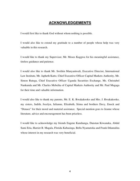 acknowledgement nursing thesis dissertation acknowledgement page