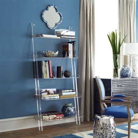 acrylic leaning bookshelf clear