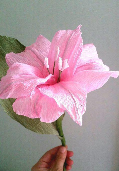 fiori giglio giglio di carta fiore carta crespa bouquet da sposa rosa