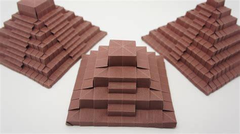 Origami Pyramid - origami ancient pyramid jo nakashima secretsfiles