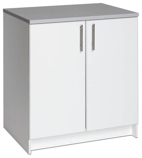 32 Inch Storage Cabinet by Winslow White 32 Inch Elite Base Cabinet With Two Doors