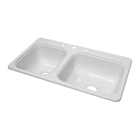 Kitchen Sinks For Mobile Homes Lyons Industries Dks Manufactured Mobile Home Acrylic Kitchen Sink With Step Ledge Lowe S