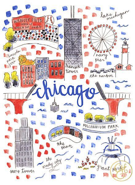 chicago map illustration 18 gorgeous illustrated maps of chicago upout