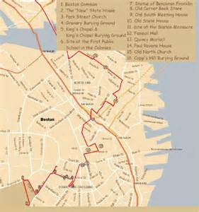 Boston Freedom Trail Map by Freedom Trail Related Keywords Amp Suggestions Freedom