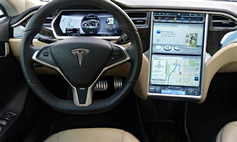 tesla model s instrument cluster tesla model s photos tesla model s instrument panel