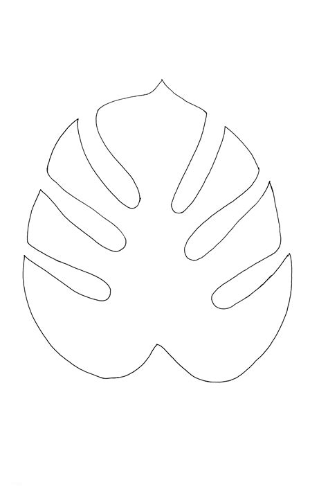 Jungle Leaf Templates To Cut Out by Diy Monstera Leaf Doormat Enthralling Gumption