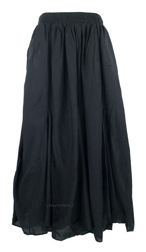 Special Maxi Flare Skirt black cotton boho maxi godet flare skirt 1x 2x 18 20 ebay