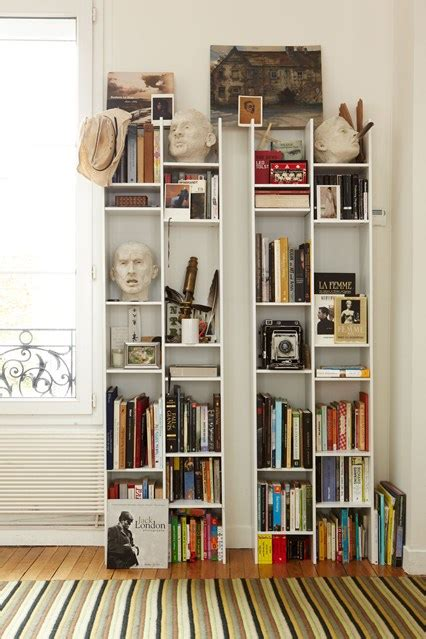 Small Bookshelf Ideas | ladder bookcase small space bookshelves ideas