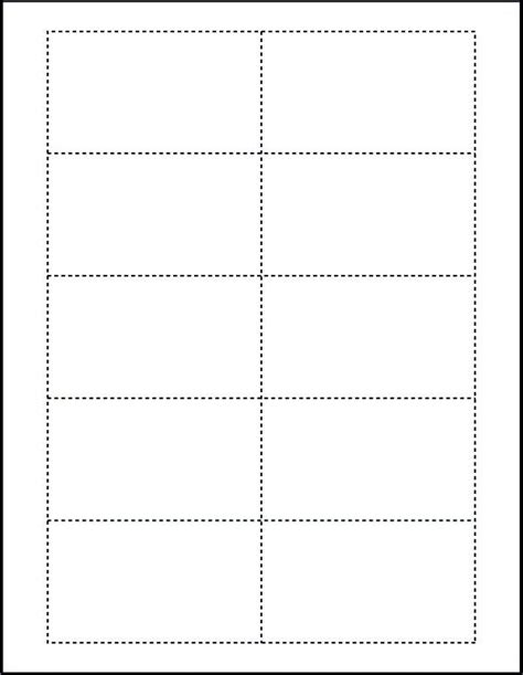 blank card template word free blank business card template microsoft word template