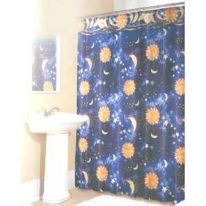 sun and moon shower curtain balinese celestial moon star sun burst mobile hand carved