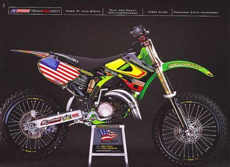 pro motocross bikes mike brown s 2001 mxdn pro circuit kawasaki kx125 by