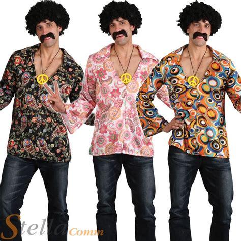 mens hippy hippie 60s 70s groovy fancy dress costume