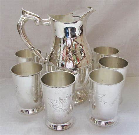 decorative gifts for the home brass silver plated decorative 6 glasses jug lemon set