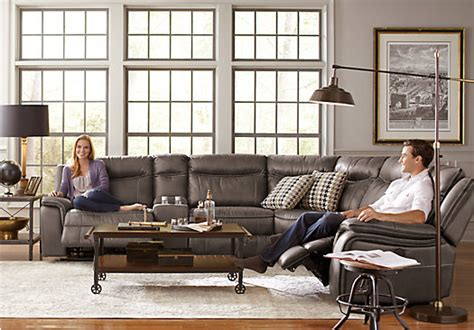 barton springs upholstery cindy crawford home barton springs gray 6 pc sectional