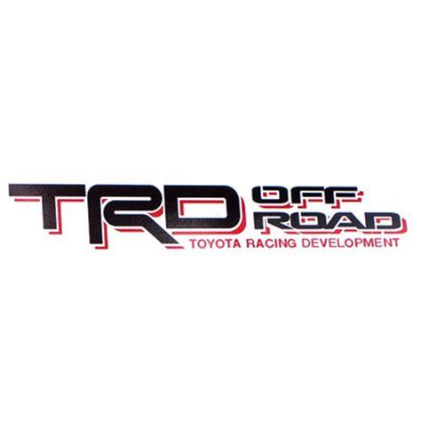 Emblem Logo Trd Kecil brand new genuine toyota trd road decal from brandsport auto parts pt211 tt980 02