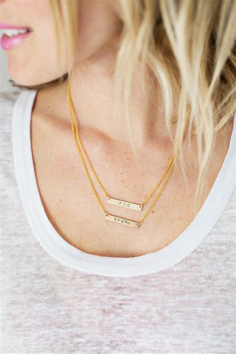 how to make your own metal jewelry make your own sted necklace a beautiful mess