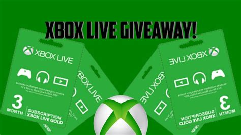 Xbox Live Sweepstakes - xbox live gold giveaway 2017 1000 subs xbox live code giveaway free xbox live gold