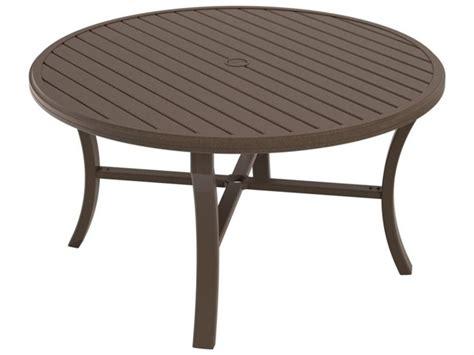 Tropitone Patio Table Tropitone Banchetto Aluminum 54 Dining Table With Umbrella 401154u