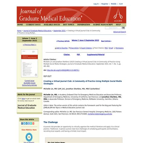 creating a virtual journal club a community of practice