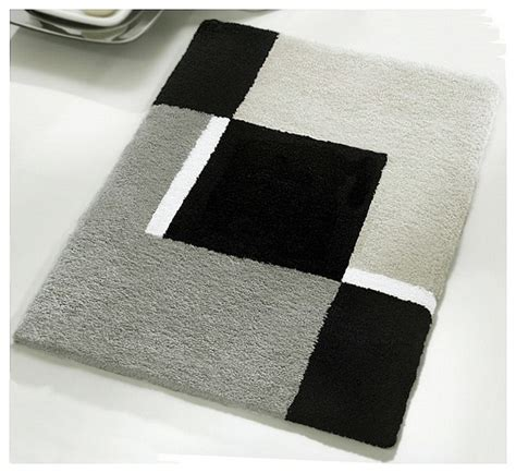 Gray And White Bathroom Rugs Small Bath Rug Modern Anti Skid Bathroom Rug Grey 21 7 Quot X 25 6 Quot Modern Bath Mats