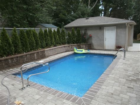 backyard inground pools brick pavers staten island ny landscaping asphalt paving exterior design pool