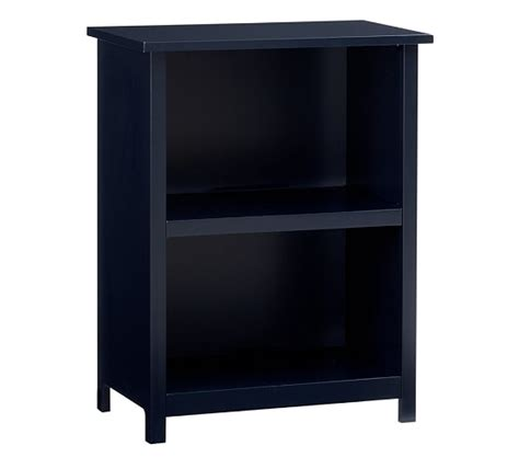 bookcase navy pottery barn