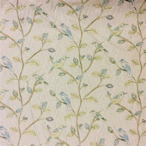 bird drapery fabric songbird embroidered birds drapery weight cotton fabric