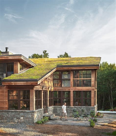 Modern Home Design Maine Warm Sustainable Home Using Many Materials