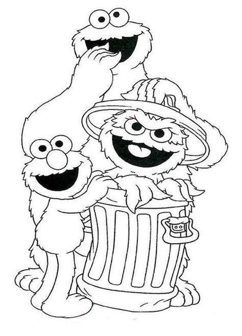 printable coloring pages sesame street free coloring pages of sesame street faces