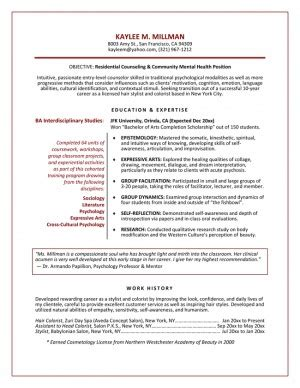 objectives of career guidance quotes on a resume exles quotesgram