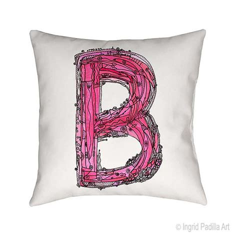 B Leave A Note On Pillow by Letter B Pillow Whimsical Pillow Pillows Decorative