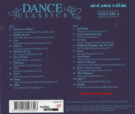 dance classics new jack swing dance classics new jack swing vol 4 dubman home