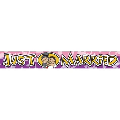Wedding Banner Just Married by Just Married Plastic Wedding Banner Balloons Co Uk
