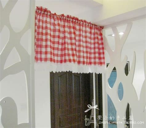 Country Plaid Kitchen Curtains Free Shipping Plaid Lace Country Rustic Semishade Curtain Kitchen Curtains Coffee Curtain