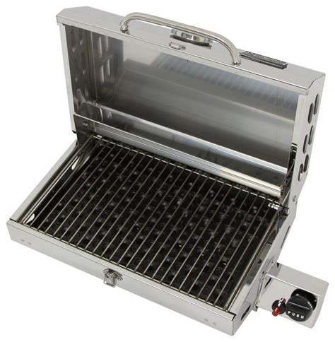Propane Pit Grill Camco Olympian 5500 Stainless Steel Rv Propane Grill Camco