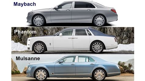 maybach bentley rolls royce phantom vs bentley mulsanne vs mercedes