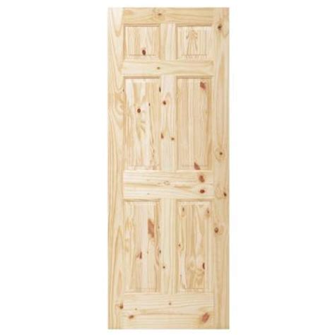 Solid Pine Doors Interior Steves Sons 32 In X 80 In 6 Panel Unfinished Knotty Pine Interior Door Slab N64nknnnac99